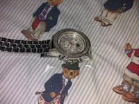 sterling silver bling out watch asking for $700 or best   I paid $1200 The Bronx, 10451