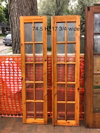 Solid wood and glass French doors Toronto, M8W 3L2