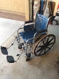 blue and black wheelchair with gray metal base Mesa, 85212