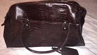 Brown crocodile look shoulder bag