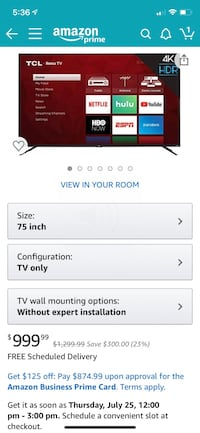 75inch TCL ROKU SMART TV  Baltimore, 21207
