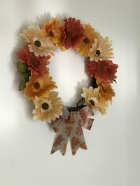 Floral fall wreath Montgomery Village