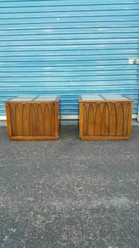 2 MID CENTURY SIDE TABLES