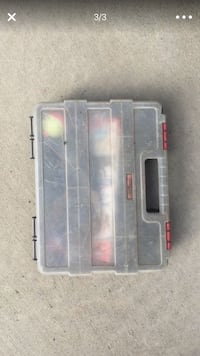 gray and red plastic tool box Fresno, 93722