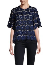 Hunter bell blue fawn embroidered lace top  Falls Church, 22041