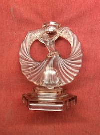 Pink depression glass lady