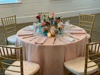 "5 Blush damask table cloth -132"" round Silver Spring, 20906"