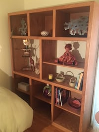 Custom-made solid wood shelving unit  Potomac