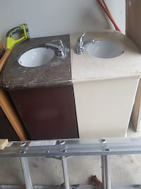 brown and white marble vanity tops