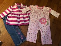 2 little girls outfits size 12-18 months