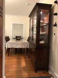 Solid Wood Lighted Cabinet New York