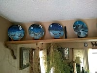 Bradford wolf hand-painted plates $20 a plate Denver, 80247