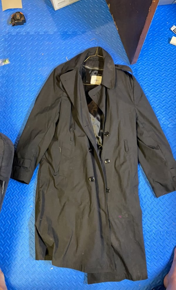 US Army Black Trench Coat 44L 0