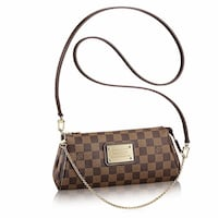 Brand new 100% authentic Louise Vuitton damier ebene Eva clutch Oakville