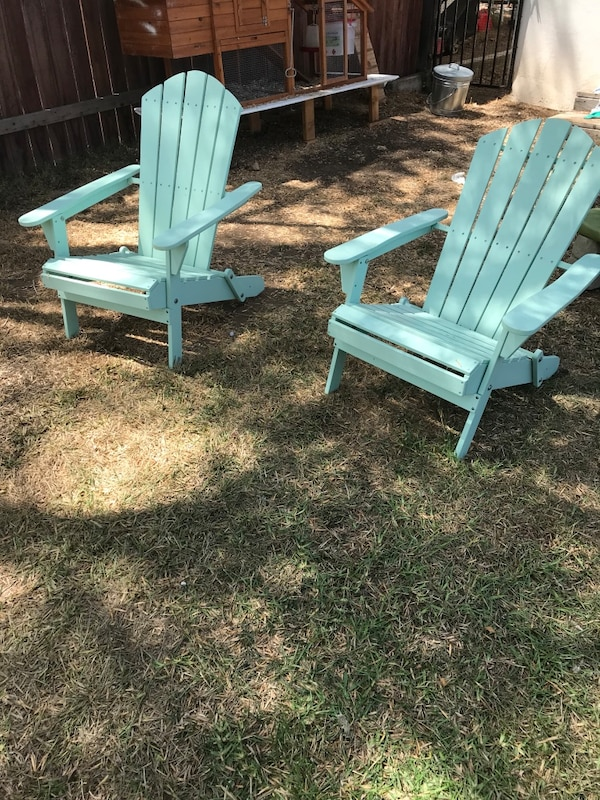 Blue Adirondack Chairs Set Of 2