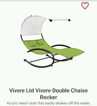NEW ROOF Used Cool Vivere Double Chaise Lounger