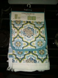 white and blue floral textile Springdale, 72764