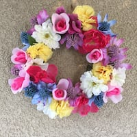 pink, yellow, and purple flower wreath Ceres, 95307