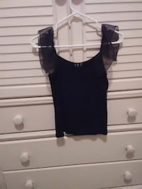 INC black tank with mesh ruffle straps Bakersfield, 93312
