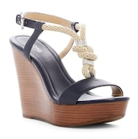 MICHAEL Michael Kors Holly Wedge Navy Size 6.5 Ashburn, 20147