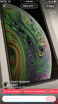 iPhone XS Max !!!SCAM!!! Vancouver, V6T 1W5