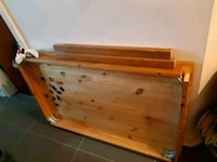brown wooden bed headboard and footboard Montréal, H1Z 1H3