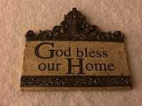 """Ceramic God bless our home wall hanging...approx 8"""" long Surrey, V3V 7L9"""