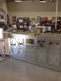 white wooden display cabinet and cabinet Santa Ana, 92705
