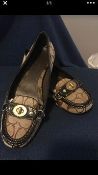 Flat Shoe ( Coach brown leather )