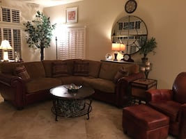 SECTIONAL & LEATHER CHAIR