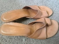 pair of brown leather heeled shoes Naples, 34102
