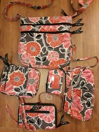 cc99c9542c6e Used black, red, and white floral crossbody bag for sale in Fort ...