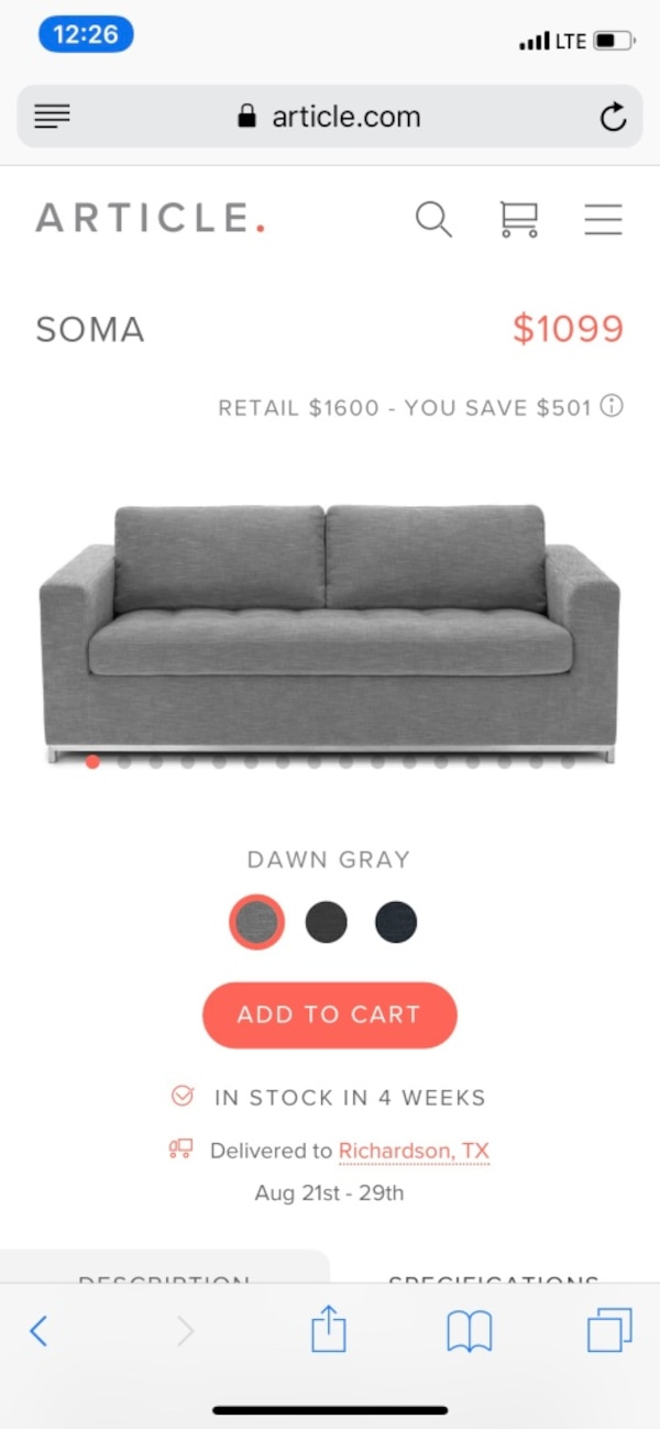 Used Gray Queen Memory Foam Pullout Sofa For Sale In Richardson Letgo