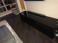 TV entertainment stand - high gloss black with glass top  Vancouver, V6A