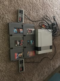 Original NES system and games.