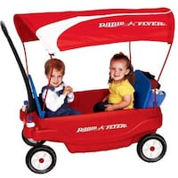 Radio flyer deluxe family wagon with canopy BURLINGTON