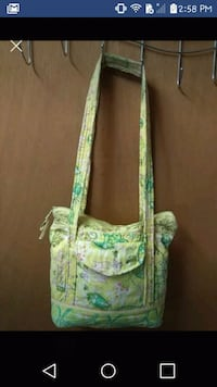Yellow green and pink quilted floral purse  Tullahoma, 37388