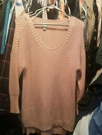 Pink women's large sweater