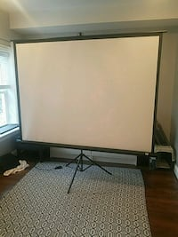 "100"" projection screen (new)  Washington, 20011"
