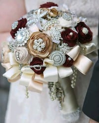 Brooch Bouquet with Glass Display Case Lehigh Valley