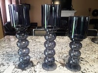 Beautiful Glass set of candle holders TORONTO
