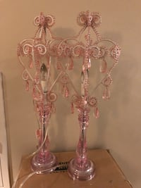 Pink crystal chandelier lamps Rockville, 20852