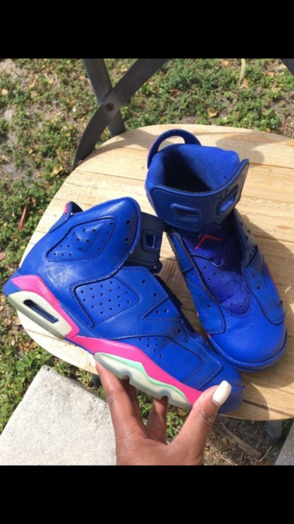 premium selection 5e201 75fb6 Size 6.5 Blue/Pink/Lime Green Retro 5s