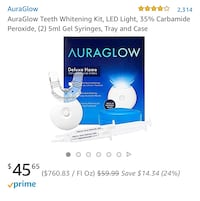 AuraGlow whitening light with gel **Brand New 2 available** Hertford, 27944