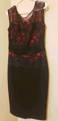 Even black and red dress knee high Toronto, M9A 4M6