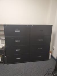 Set of 2 four drawer filing cabnets  Pick up in Valencia