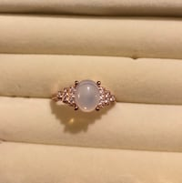 Moonstone /rose gold plated ring