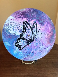 Abstract art on vinyl record (butterfly)