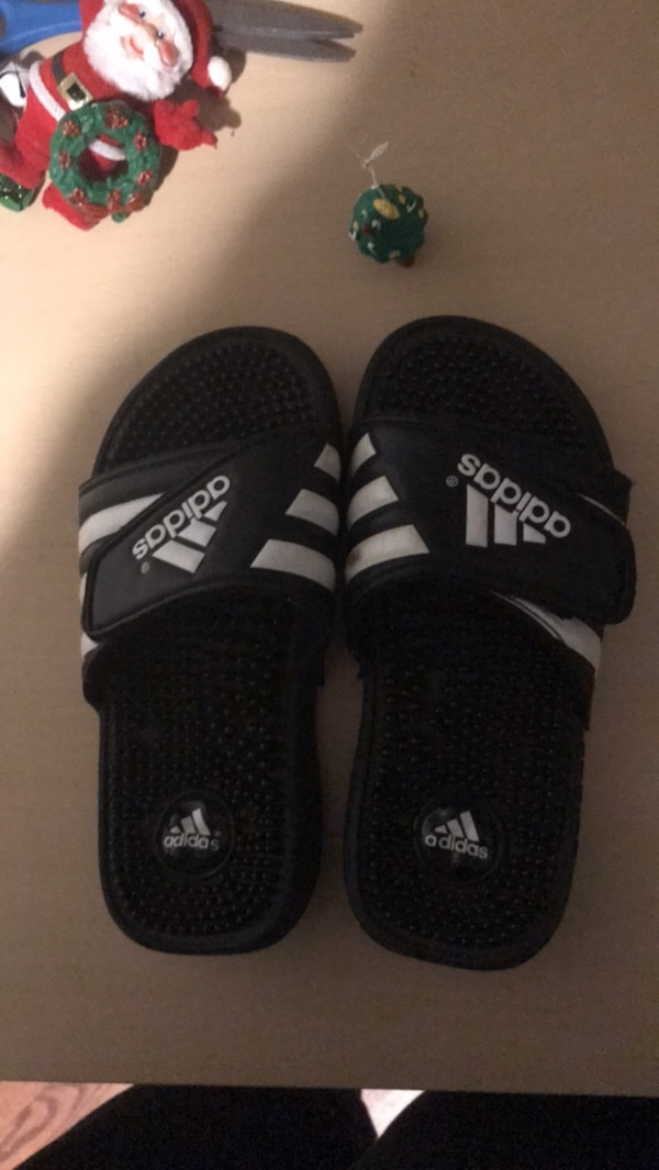 da828a0985c8 Used Adidas slides Kids size 4 for sale in Asheville - letgo