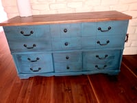 Refinished 9 drawer dresser/credenza/buffet table Albuquerque, 87122